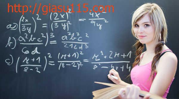 Gia sư môn toán giỏi tại thái nguyên