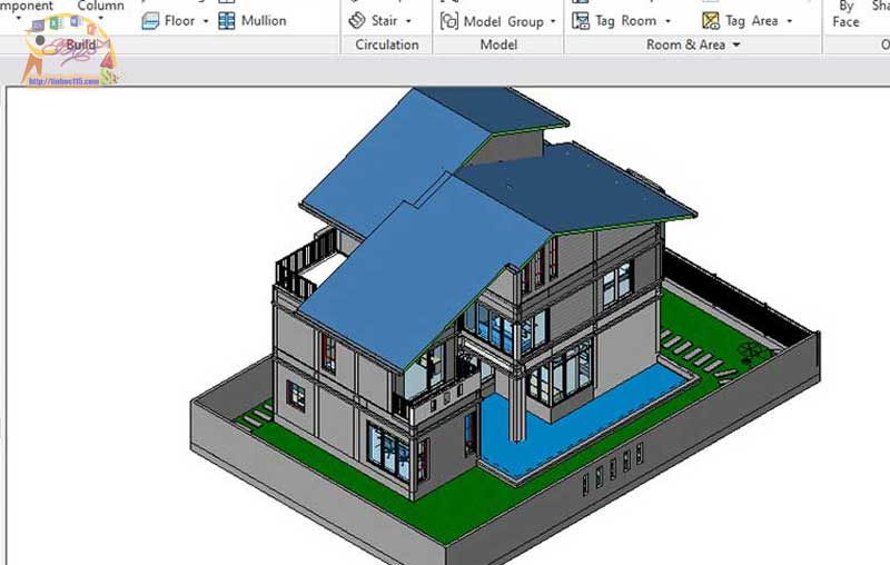 day thiet ke 3d revit thai nguyen